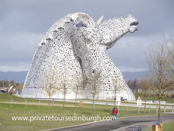 the Kelpies, Helix Park , Falkirk , Scotland , the largest equine sculptures in the world
