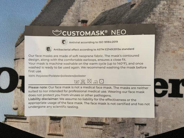 Lallybroch fashion face mask