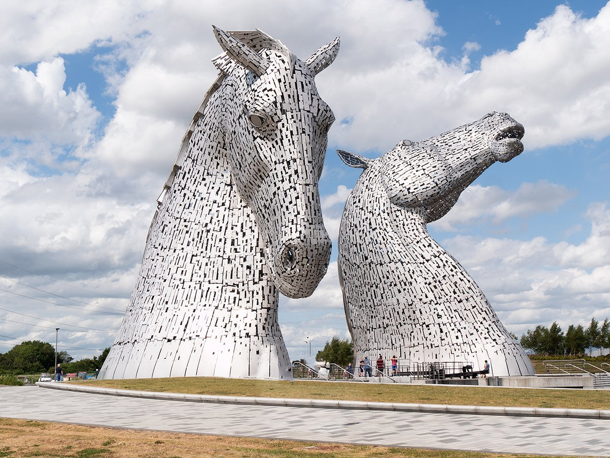 Explore the famous Kelpies , the Falkirk Wheel and Callendar House in Falkirk on a private tour for groups of up to 4 people
